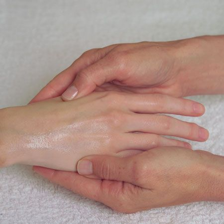 6. Apply the prepared Filmo-Tech solution on both hands and/or feet. Massage until it is absorbed.