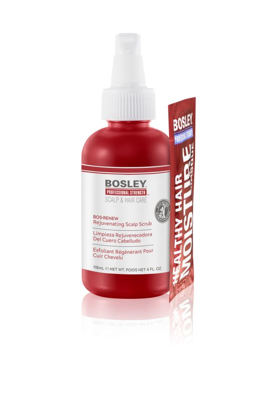 <p><strong>The new Bosley Bos-Renew Rejuvenating Scalp Scrub whisks away scalp debris and buildup with all-natural bamboo charcoals.</strong></p>