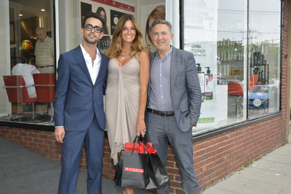 Salon Mayan owner, Ben Aharon and Reality TV Star Kelly Bensimon and Matrix General Manager Paul Schiraldi.