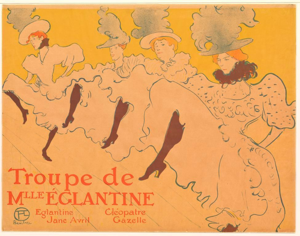Mademoiselles Églantines Troupe, 1896 by Toulouse-Lautrec at MoMA Museum.  Note orange hair.