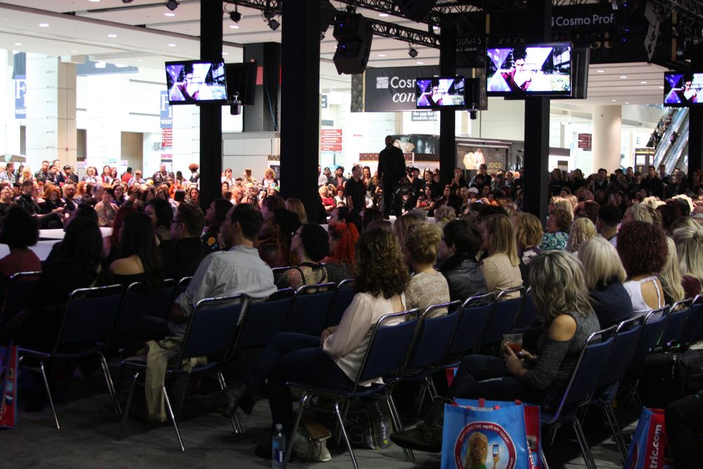 Huge crowds gathered to see the TIGI presentation at America's Beauty Show in Chicago