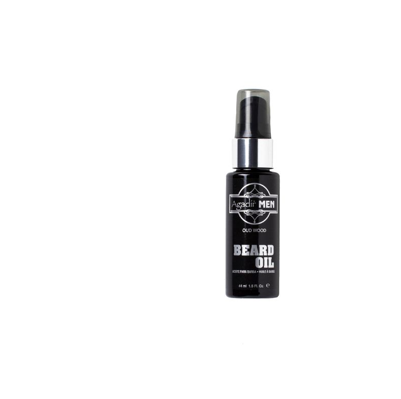 AGADIR INTERNATIONAL Travel Beard Oil: Soften brittle whiskers with a formula of wood extract, argan and grapeseed oils.