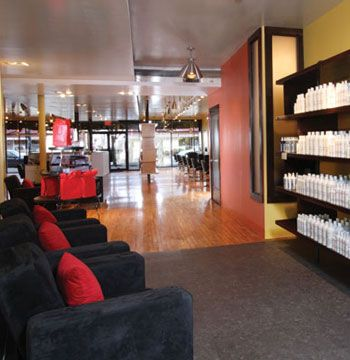 Akada Hair Salon Columbus, Ohio <Br>Website: akadahairsalon.com <Br>Owner: Anjel McLaughlin Salon established: June 1, 1997 Opening after remodel: July 31, 2009 Salon style: upscale, sleek, boutique Square footage: 3,000 Number of styling stations: 15 Equipment: Collins Manufacturing Company Furniture: Automated Visions Total design investment: $115,000 Top retail lines (hair care): Akada, Onesta, Moroccan Oil Top retail lines (hair color): Mask, Pinshines, Framesi Design by: Glassen Feher Architects Inc. Architect: Jeff Glavin