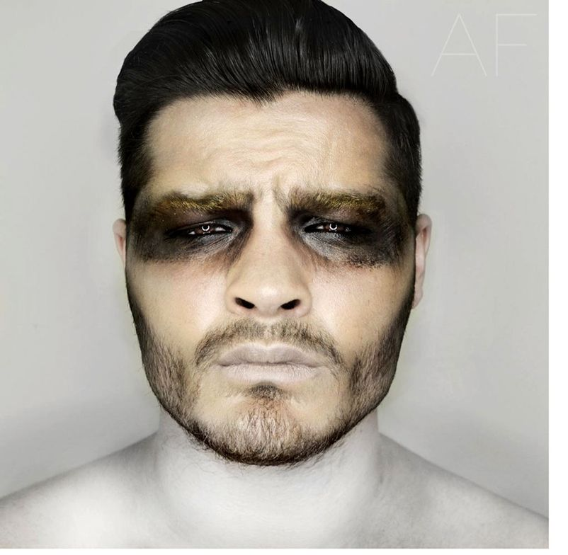 Halloween season inspires Rivera to focus on special fx make-up, gaining thousands of followers in-demand of make-up tutorials and inspiration.