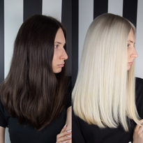 DRAMATIC MAKEOVER: 2 Sessions To Bright Blonde