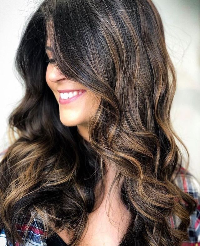 @_hairgician_ used Alfaparf Milano Style Stories to showcase this brunette balayage.