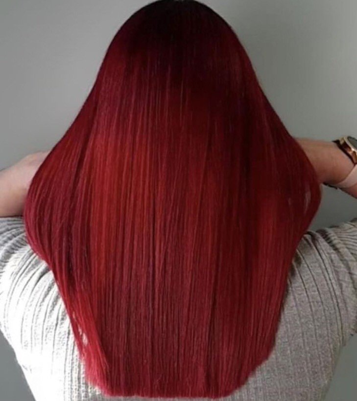 @stevenaustinhairartist is giving us The Little Mermaid vibes. He used 5.66s root with RC and R pigments, 6.66s with R pigment- mids and 7.66i with R and RC pigments.