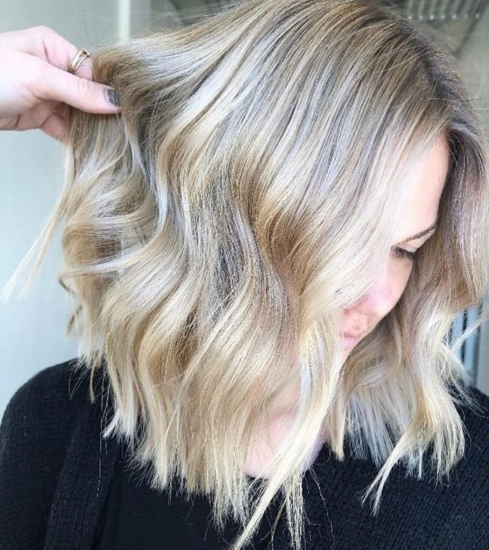Talk about blonde ambition. @hairbytayytoups nailed this blonde balayage.