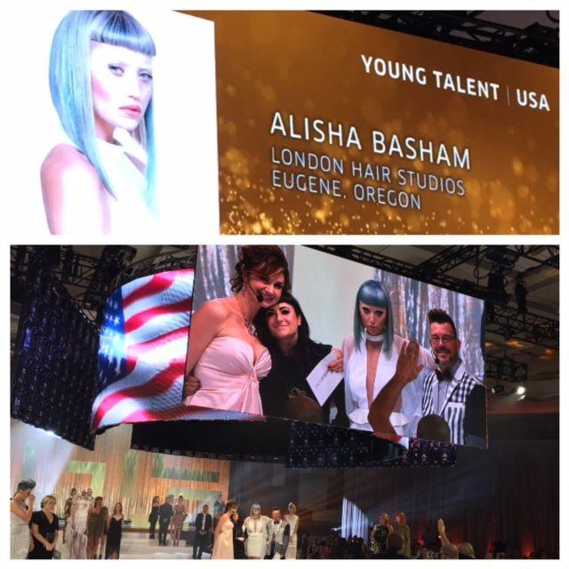 Alisha Basham wins the GOLD in Wella's NATVA Young Talent Category.