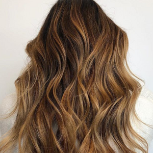 """""""My favorite part of winter is darkening and warming up my balayaged beauties,"""" Alison Valsamis..."""