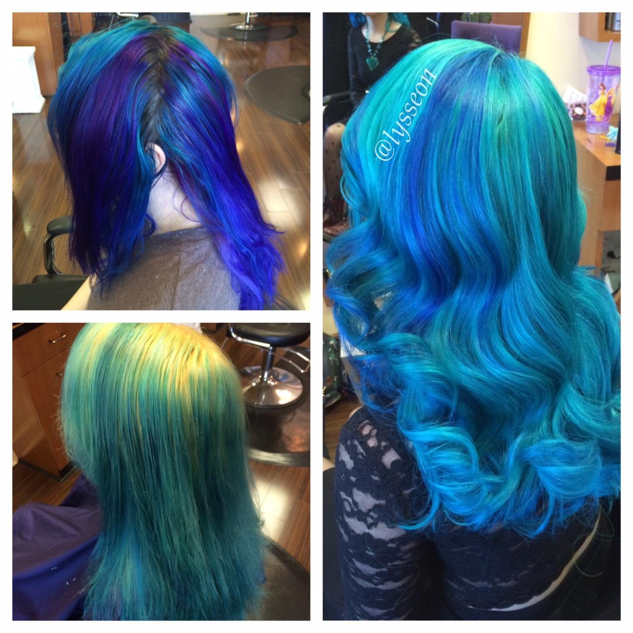 TRANSFORMATION: Neon Turquoise Mermaid