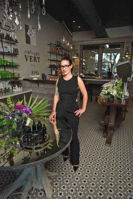 Amanda Hume, owner of Vert Beauty