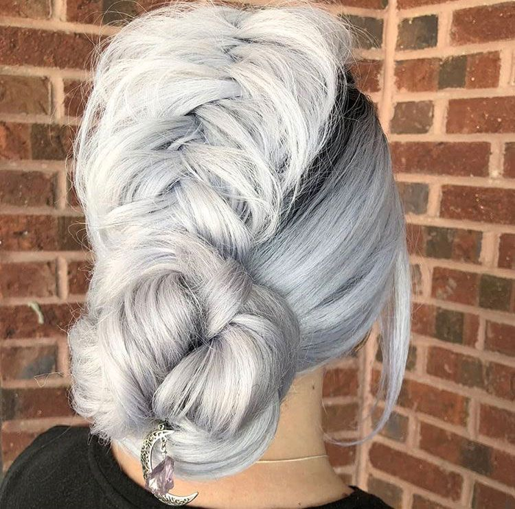"""""""This beautiful upstyle was created with the help from the New <a class=""""notranslate"""" href=""""https://www.instagram.com/sexyhair/"""">@sexyhair</a> <a href=""""https://www.instagram.com/explore/tags/controlme/"""">#controlme</a>. First, on dry hair spray each section then comb or brush through. Then, curl each section. Once the whole head is curled brush out. Then, begin your upstyle. Hot tip, braids stay in better when you pre-prep the hair. It always gives a better foundation to work with!"""""""