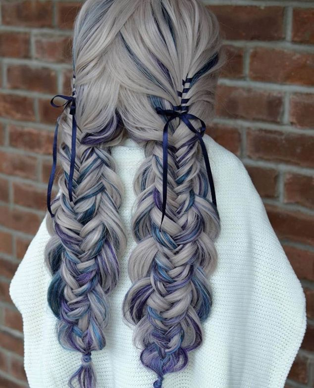 """Better Seen In Double """"This beautiful Edged Fishtail Braid was created with the help from <a class=""""notranslate"""" href=""""https://www.instagram.com/sexyhair/"""">@sexyhair</a> <a href=""""https://www.instagram.com/explore/tags/bigsexyhair/"""">#bigsexyhair</a> <a href=""""https://www.instagram.com/explore/tags/powderplaylite/"""">#powderplaylite</a> and <a href=""""https://www.instagram.com/explore/tags/getlayered/"""">#getlayered</a>. Typically, I would have created 2 braids and layed one on top of the other to get the look as if it was one braid. Today, I taught myself something new and created it as one big braid. ❤ Never stop learning. Practice, practice, practice."""""""