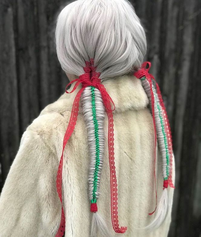 """<span title=""""Edited"""">Holiday Cheer """"This beautiful Holiday Hair was created with a beautiful red ribbon string braid into a green ribbon braid. I used <a href=""""https://www.instagram.com/explore/tags/bigsexyhair/"""">#bigsexyhair</a> <a href=""""https://www.instagram.com/explore/tags/getlayered/"""">#getlayered</a> to hold my style and <a href=""""https://www.instagram.com/explore/tags/stylesexyhair/"""">#stylesexyhair</a> <a href=""""https://www.instagram.com/explore/tags/hardupgel/"""">#hardupgel</a> to smooth the hair around the ribbon braid.""""</span>"""
