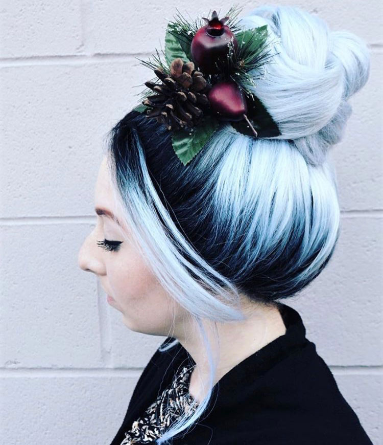 "Holiday Fun Bun ""This awesome high braided bun was put together with the help from <a class=""notranslate"" href=""https://www.instagram.com/sexyhair/"">@sexyhair</a><br /><a href=""https://www.instagram.com/explore/tags/healthysexyhair/"">#healthysexyhair</a> <a href=""https://www.instagram.com/explore/tags/stylingpaste/"">#stylingpaste</a> and <a href=""https://www.instagram.com/explore/tags/bigsexyhair/"">#bigsexyhair</a> <a href=""https://www.instagram.com/explore/tags/powderplaylite/"">#powderplaylite</a> for that super expanded braid on the top and holding it all in place I used <a href=""https://www.instagram.com/explore/tags/bigsexyhair/"">#bigsexyhair</a> <a href=""https://www.instagram.com/explore/tags/getlayered/"">#getlayered</a>."""