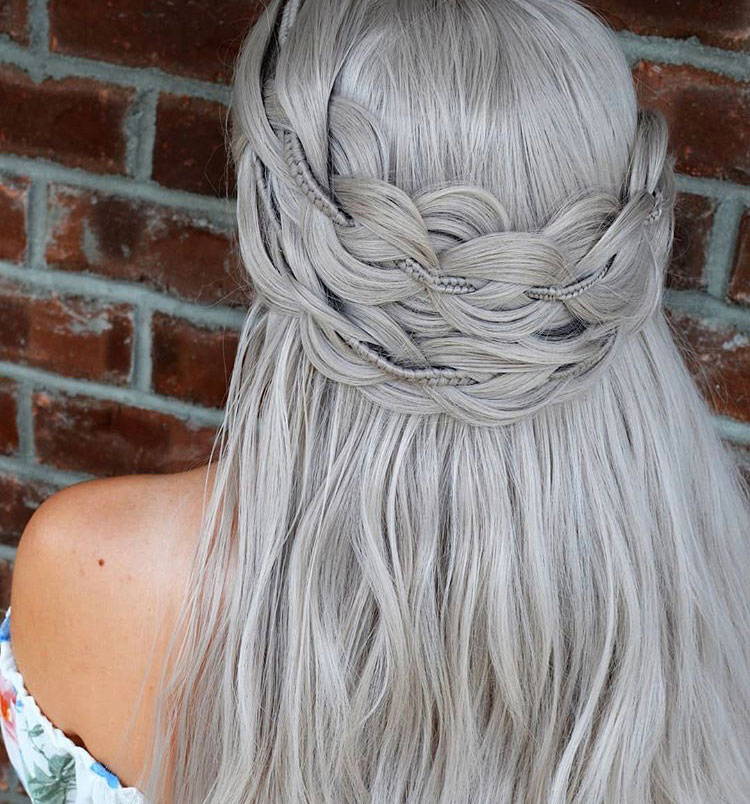 Crown Braids: Double the fun.
