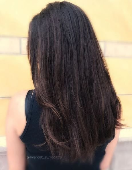 Simplicity at it's finest. You can't go wrong with a classic brunette.