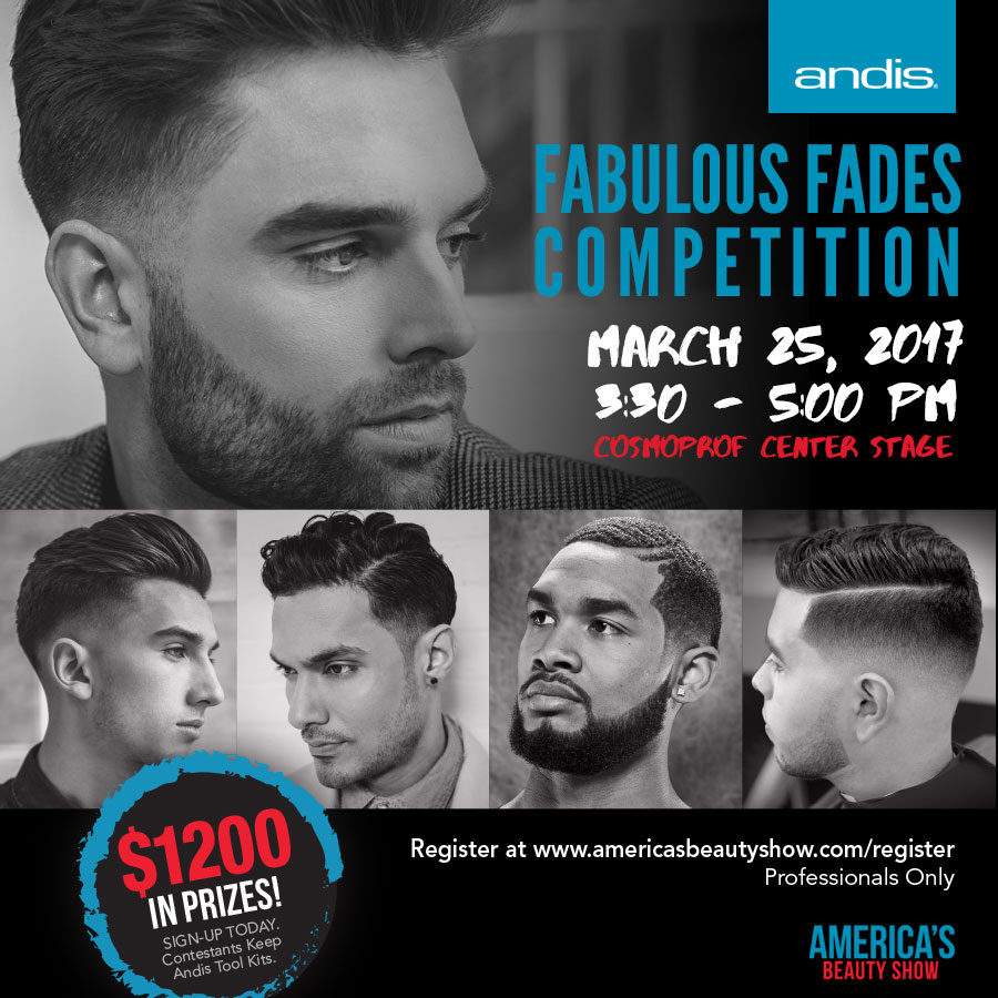 Andis Opens Registration for Fabulous Fades Competition at ABS