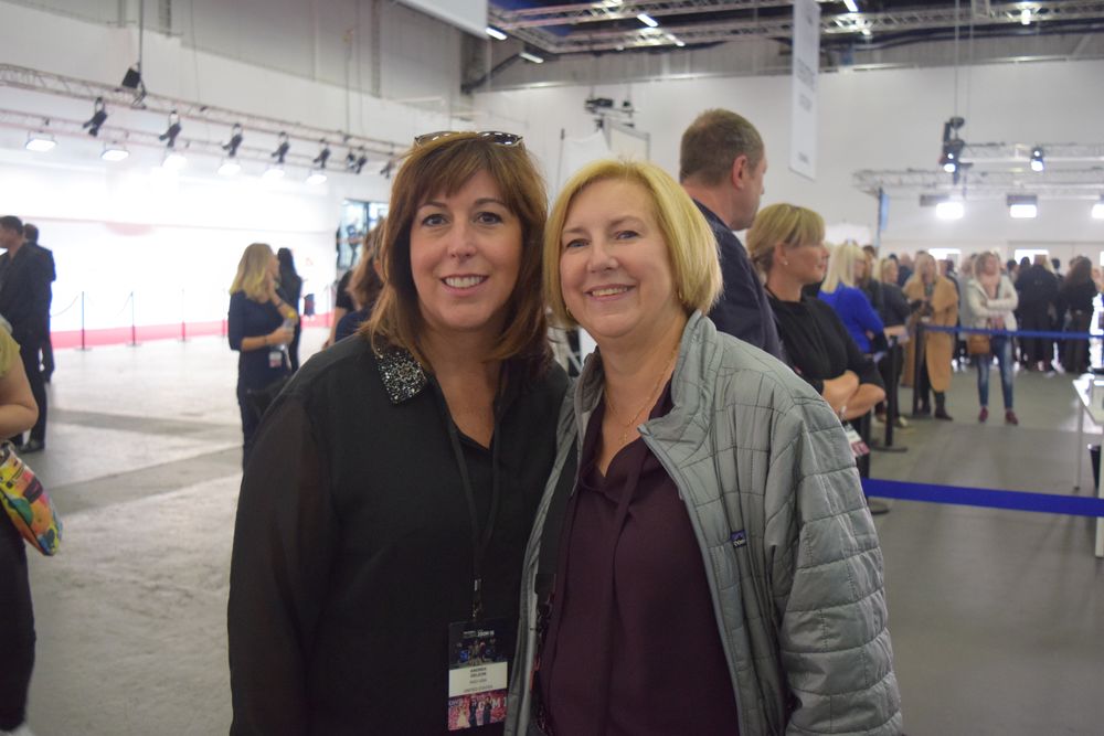 Team Goldwell's Andrea DeLeon and Mary McConnell.