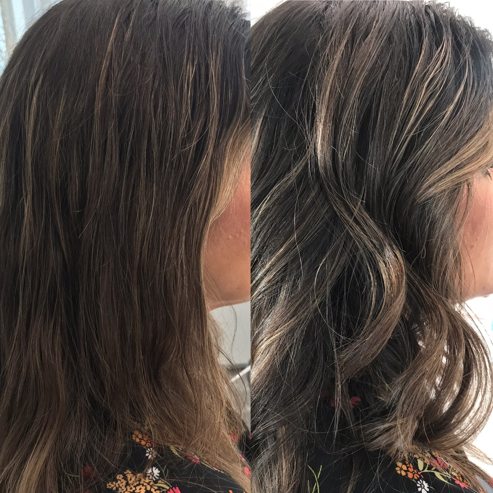A before and after using the Bioprogramming Repronizer and Hairbeauron.