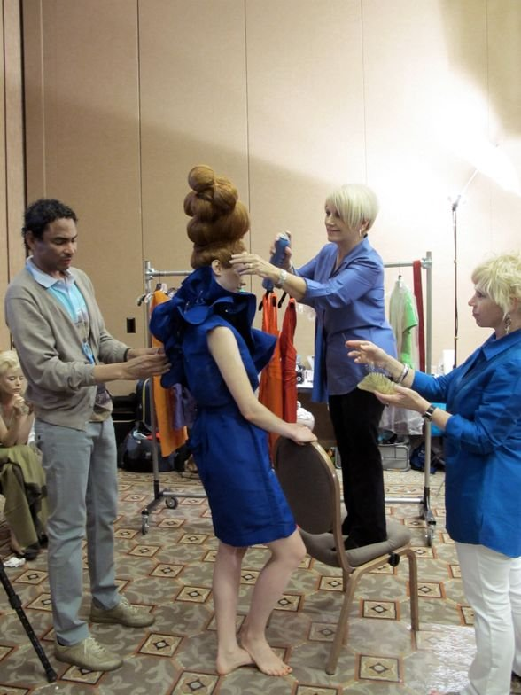 Ann Bray always rises to the occasion when creating one of her amazing updo's.<br />@luis_alvarez_babylisspro