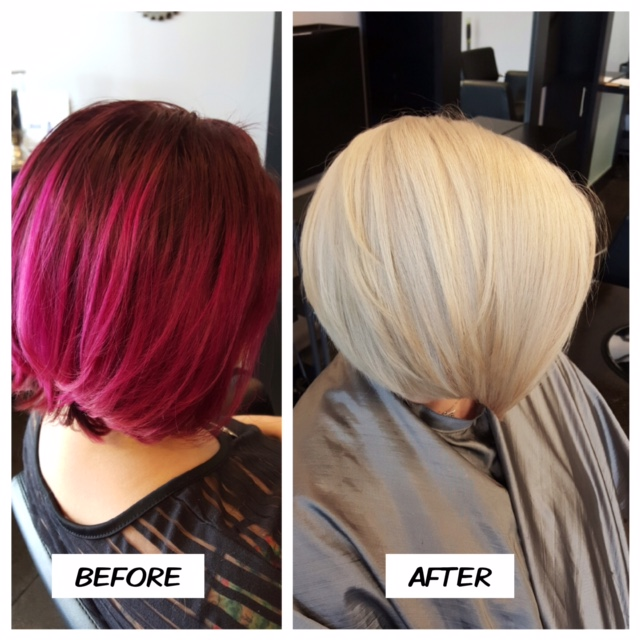 TRANSFORMATION: Raspberry To Perfect Blonde