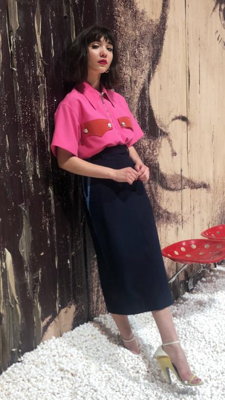 <strong>Rowan Blanchard's Textured Faux Bangs for Calvin Klein</strong>