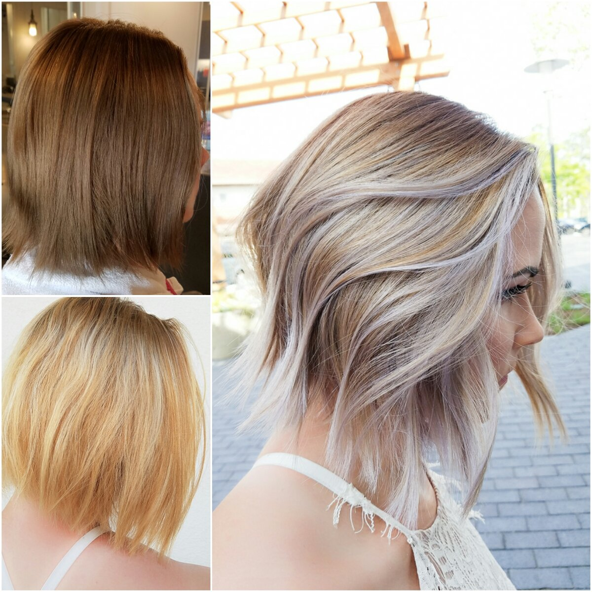 Balayage For A Dimensional Ash Blonde