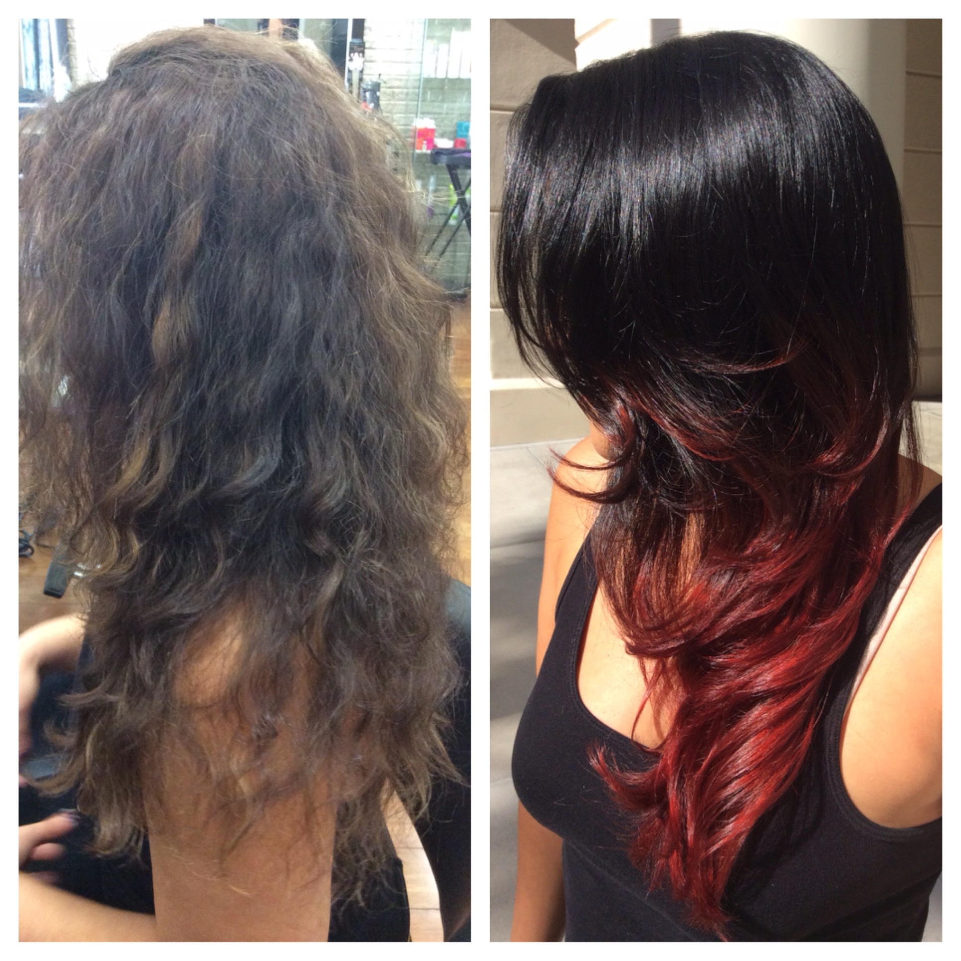 TRANSFORMATION: Cherry Tipped Ombre