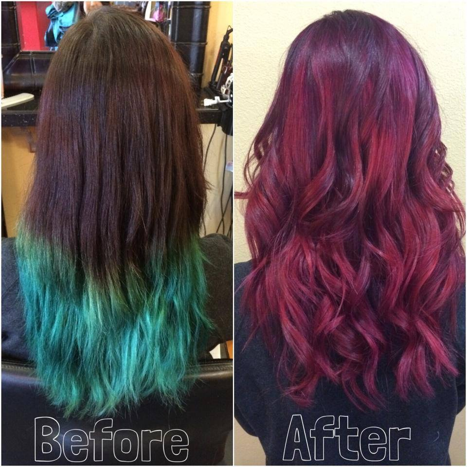 COLOR CORRECTION: Home School Dip Dye To Cherry Color Melt