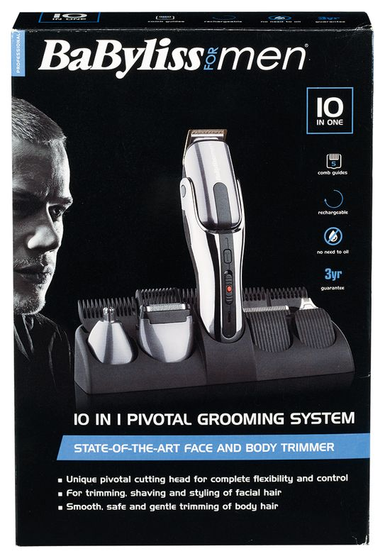 BaByliss For Men's 10-in-1 Pivotal Grooming System.
