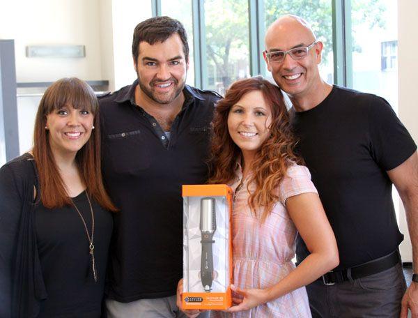(From left) MODERN's Alison Shipley; Celebrity Stylist Dean Banowetz; MODERN's Lauren Salapatek; Genacelli Salon's Joseph Cartagena,