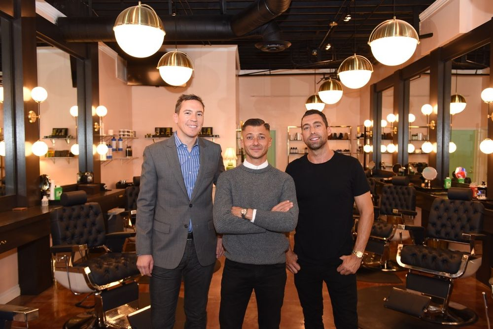 <p>Co-owners of Horse &amp; Carriage Hospitality and Like A Gentleman Barbershop (from left to right): David Jarrett, Sylvain Bitton, and JT Torregiani </p>