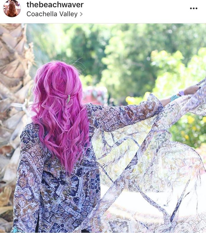 <p>Via @thebeachwaver. Sarah Potempa braided and Beachwaved beauty influencer Kandee Johnson at the Victoria's Secret party during Coachella weekend one.</p>