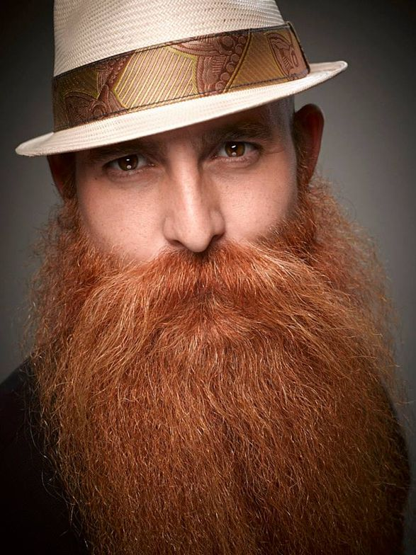 """This beard is100% cool. """"Why be part of the 1% when you can be part of the 100%?"""" says Webb."""