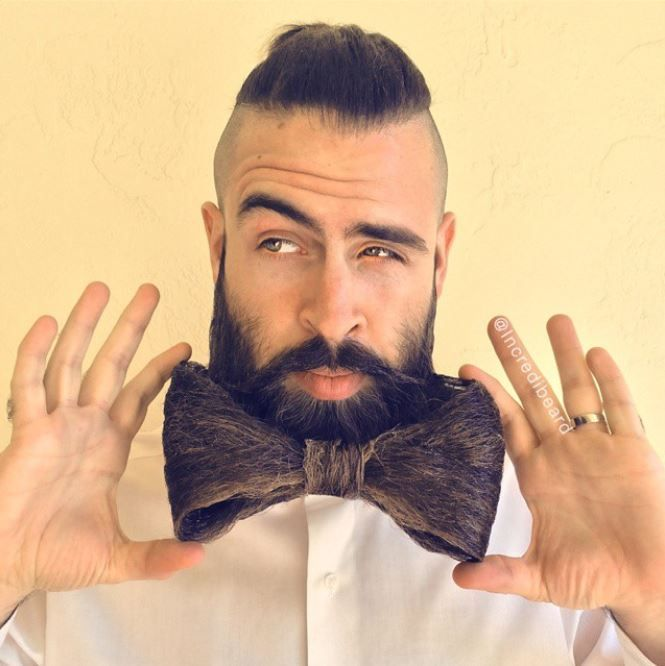 """""""This week's idea comes from News-O-Matic's online kids magazine. Subscriber, Kate (age 11), asked for a Bearded Bow-Tie. So that's what I call this style,"""" says Webb."""