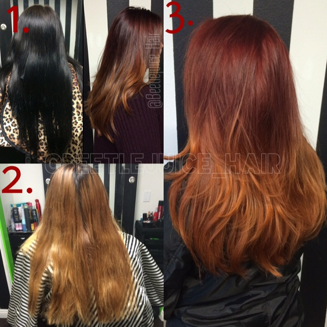 HOW TO: From Black Box Dye To Fiery Sombre