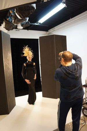 Capturing the cover image. Hair design by Chris Vandehey.