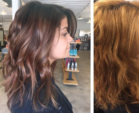Haircolor Correction: Brassy and Not Believable to Rich Brunette