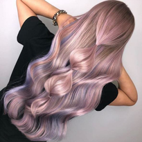 This metalic hair color was our most-liked post of the week; it received more than 7,400 likes.