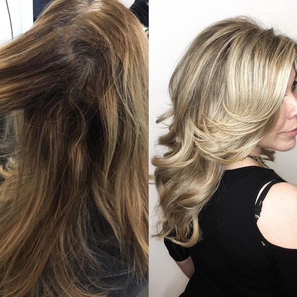 Before and after blonde by Beth Minardi.