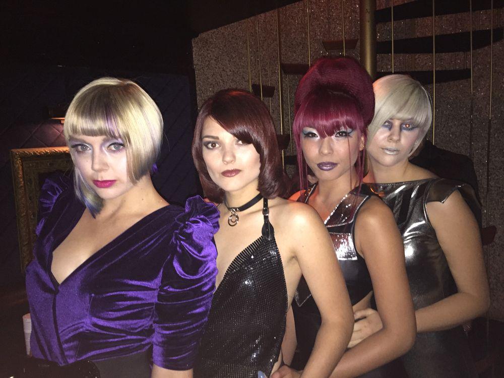 Fernando Romero's models backstage at the Bio Ionic Style Awards.