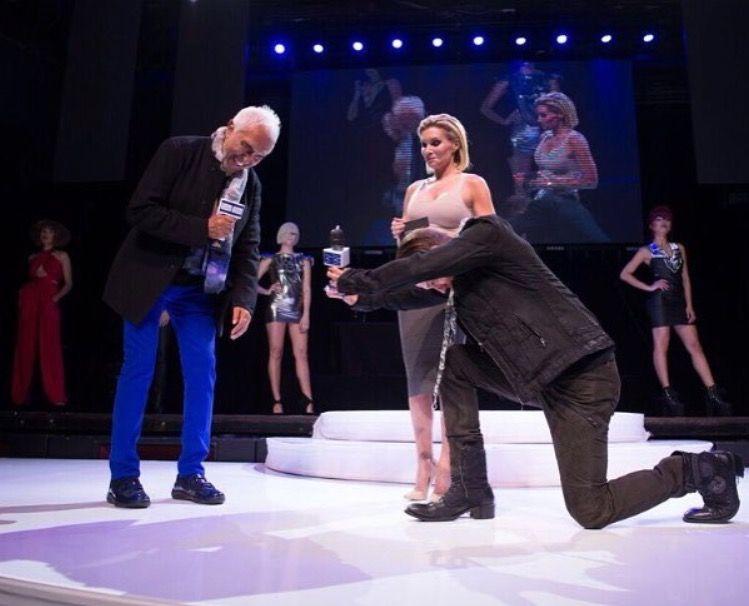 Fernando Romero accepts an award onstage.