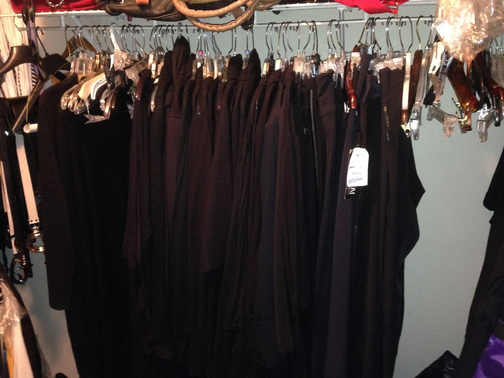 You look in your closet and it's all-black everything.