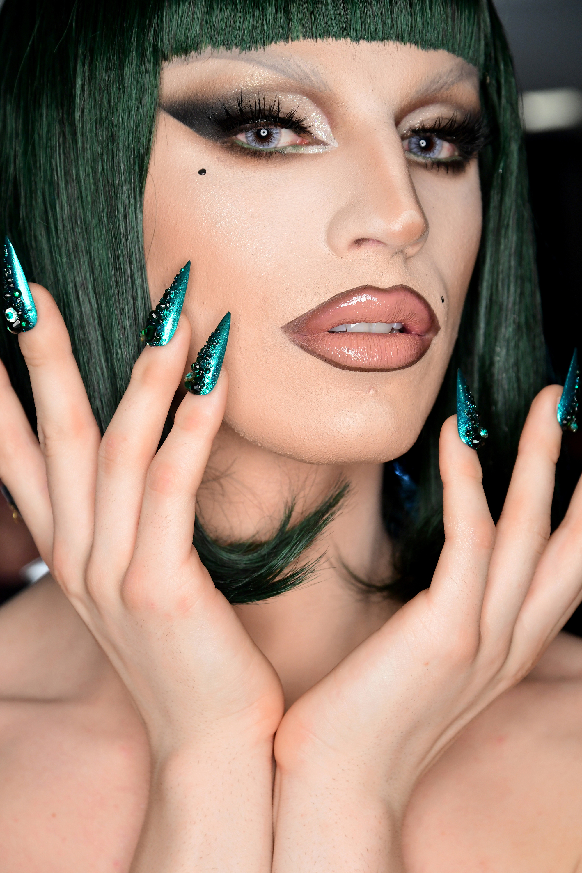 Manicure by CND and makeup by Kabuki (for MAC) at The Blonds F/W 2019.