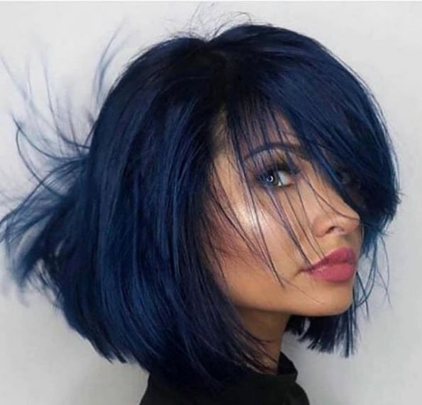 My oh my how we love this cut and color! The navy is just stunning!