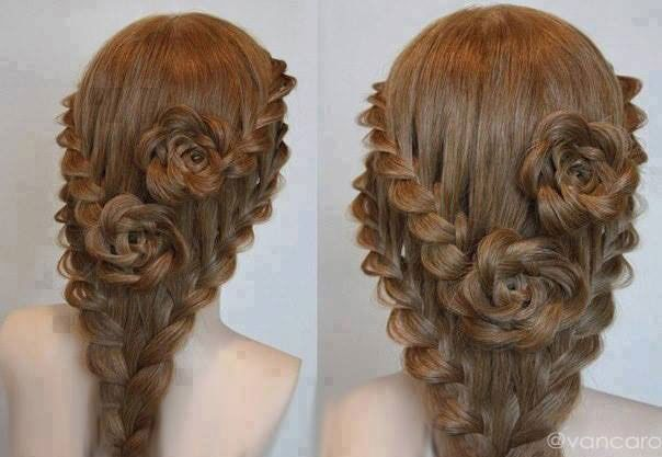 HOW TO: Lace Rose Braid as Seen on Pinterest
