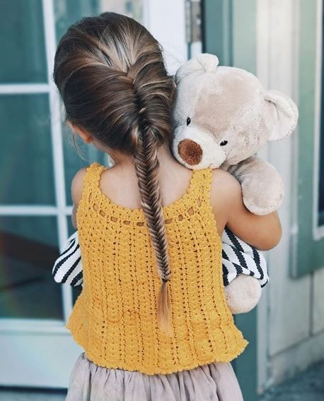 A teddy really is a kid's best friend, and this adorable style from @braids_in_action is stunningly intricate while still allowing enough flexibility for whatever journey Teddy has planned.