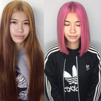 MAKEOVER: Big Cut and Color Change To Dramatic Pink